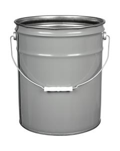 5 Gallon Gray Open Head Steel Pail (29 Gauge), Unlined