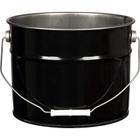 3 Gallon Black Open Head Steel Pail (29 Gauge), Unlined