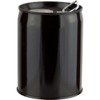 1 Gallon Black Tight Head Steel Pail with Epoxy Phenolic Lining and Rieke Opening, UN Rated