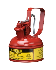 1 Pint, Type I Safety Can w/Trigger-Handle for Flammables, Red