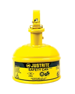 1 Pint, Type I Safety Can w/Trigger-Handle for Flammables, Yellow (Multi-Lingual)