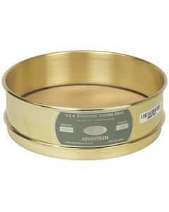 "No. 100 Mesh Testing Sieve, 8"" Dia., 2"" Depth (Full), Brass Frame, Brass Wire Cloth"