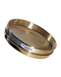 "No. 10 Mesh Testing Sieve, 8"" Dia., 1"" Height (Half), Brass Frame, Brass Wire Cloth"