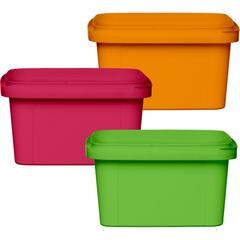 12 oz. PP Plastic Square Tamper Evident Container, 105mm