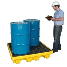 4-Drum Nestable Ultra-Spill Pallet P4 - UltraTech 1230/1231