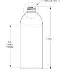 16 oz. Amber PET Capri Oval Bottle, 28mm 28-410