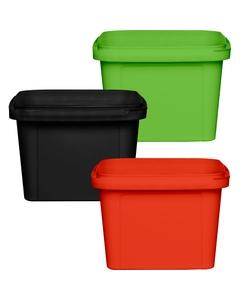 16 oz. (500 ml) Square PP Tamper Evident Container, 105mm 105-TE