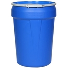 """30 Gallon Blue Plastic Drum, UN Rated, Bung Lid w/Metal Lever Lock, 2"""" & 3/4"""" Fittings"""