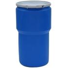 "14 Gallon Blue Plastic Drum, UN Rated, Bung Lid w/Metal Lever Lock Closure, 2"" & 3/4"" Fittings"