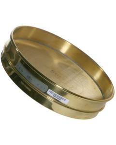 "No. 170 Mesh Testing Sieve, 12"" Dia., 1-5/8"" Depth (Half), Brass Frame, Brass Wire Cloth"