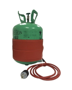 Refrigerant Cylinder Heater, Preset Thermostat to 120° F