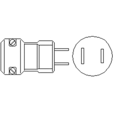 Power Plug for Heating Tape and Cords, 2-Prong (NEMA 1-15), 2-Wire