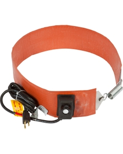 15 Gallon Heavy-Duty Drum Heater Band for Steel Drums, Adj. Thermostat, Up to 425°F, 120v, 700w (Bare Wire Leads)