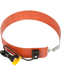 55 Gallon Heavy-Duty Drum Heater Band for Plastic Drums, Adj. Thermostat, Up to 160°F, 240v, 300w (Crimped Ferrule Wire Leads)