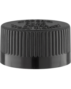 22mm 22-400 Black Child Resistant Cap (PDT) w/Foam Liner (3-ply)