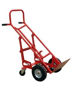 "4 Wheel Drum Cart, 10"" Semi-Pneumatic Wheels (for Steel Drums)"