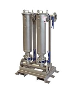 "Multi-Plex (2) Filter Vessel, 304 Stainless Steel, 3"" Flange, Size #2 (30"" Basket Depth)"