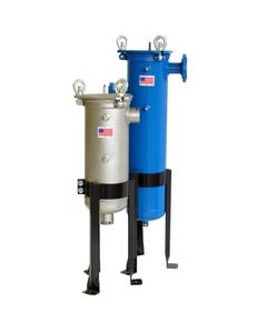 """Size #2 (30"""" Basket Depth) Carbon Steel Filter Vessel, 2"""" Flange, Bottom Outlet, DP Ports"""