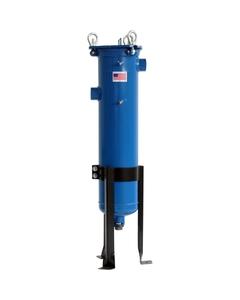 """Size #2 (30"""" Basket Depth) Carbon Steel Filter Vessel, 2"""" NPT, Universal Outlet, DP Ports"""