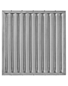 """25"""" x 16"""" x 1"""" Galvanized Steel Washable Grease Filter"""