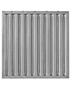 """16"""" x 16"""" x 1"""" 430 Stainless Steel Washable Grease Filter"""
