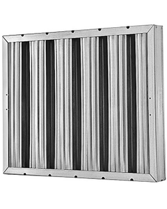 """10"""" x 20"""" x 2"""" Galvanized Steel Washable Grease Filter"""