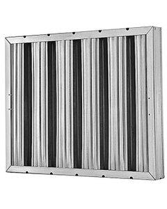 """10"""" x 20"""" x 2"""" 430 Stainless Steel Washable Grease Filter"""