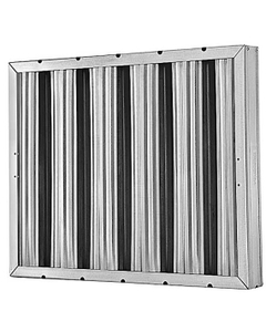 """10"""" x 20"""" x 2"""" Heavy Weight Galvanized Steel Washable Grease Filter"""