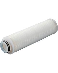 "2.7"" x 10"" Electronics-Grade 0.1 Micron PTFE Membrane Liquid Filter Cartridge w/Fin End Cap, Encapsulated Viton Gasket"