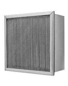 "24"" x 24"" x 11-1/2"" High Capacity HEPA Filter, No Header, Galvanized Steel Frame, 99.97% Efficiency"