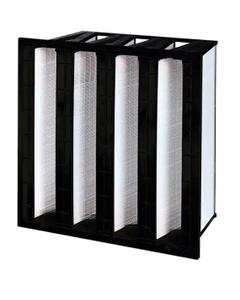 "24"" x 24"" x 12"" Four V-Bank Mini-Pleat Air Filter, MERV 14"