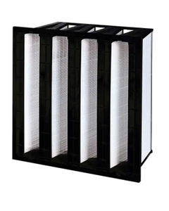"12"" x 24"" x 12"" Four V-Bank Mini-Pleat Air Filter, MERV 14"