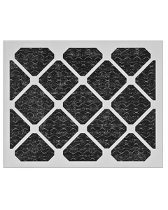 """16"""" x 25"""" x 1"""" Charcoal Pleated Disposable Air Filter"""