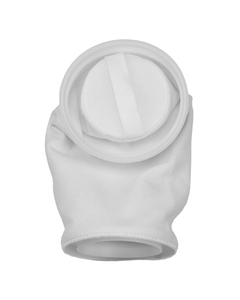 Size #1, 10 Micron - Polyester Felt Dual Flow Liquid Filter Bag w/Plastic Ring, Welded (DFBPES10P1F-WE)