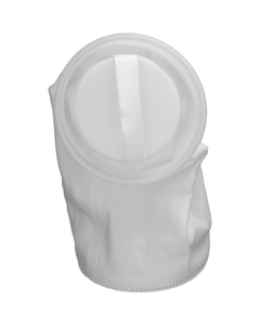 Size #1, 50 Micron - Polyester Felt Dual Flow Liquid Filter Bag w/Plastic Ring, Welded (DFBPES50P1F-WE)