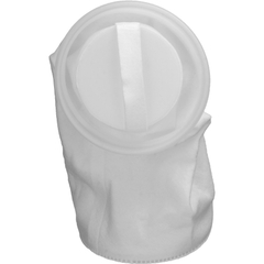 Size #1, 10 Micron - Polypropylene Felt Dual Flow Liquid Filter Bag w/Plastic Ring, Welded (DFBPOG10P1F-WE)