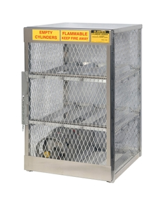 6 Cylinder Horizontal Gas Aluminum Storage Locker (Justrite® 23002)