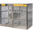 12 Cylinder Horizontal Gas Aluminum Storage Locker (Justrite® 23004)