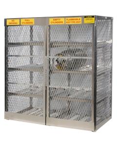16 Cylinder Horizontal Gas Aluminum Storage Locker (Justrite® 23005)