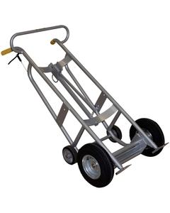 "Aluminum Drum Truck, 12"" Pneumatic Wheels, w/Brake (for Steel, Plastic, Fiber Drums)"