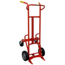 "Heavy Duty Ergonomic Drum Truck, 10"" Molden Rubber Wheels (for Steel Drums)"