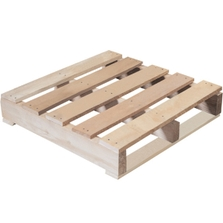 """24"""" x 24"""" Recycled Wood Pallet, 2-Way Fork Access, 1,000 lb. Capacity"""
