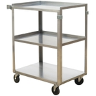 """15.5"""" x 24"""" Stainless Steel Service Cart, 300 lb. Capacity"""