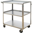 """17.625"""" x 27.125"""" Stainless Steel Service Cart, 300 lb. Capacity"""