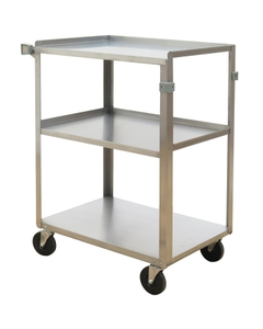 """15.5"""" x 24"""" Stainless Steel Service Cart, 500 lb. Capacity"""