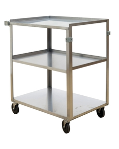 """18"""" x 27.375"""" Stainless Steel Service Cart, 500 lb. Capacity"""