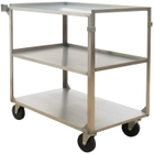 """21"""" x 35.125"""" Stainless Steel Service Cart, 500 lb. Capacity"""