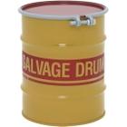 10 Gallon Steel Salvage Drum, Cover w/Bolt Ring Closure