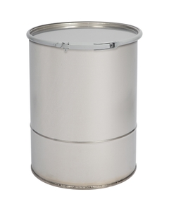 15 Gallon Stainless Steel Drum, Food Grade, Cover w/Lever Lock