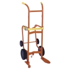 """Drum Drainer Truck, 10"""", 6"""" Moldon Rubber Wheels (for Poly Drums)"""